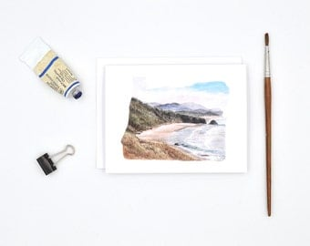 Oregon State Art Card - Watercolor Notecard - Oregon Gift - West Coast Art - Blank Notecards - Oregon Watercolor - Portland Art