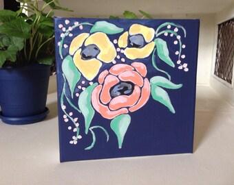 Spring Bouquet in Navy