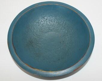 Vintage Wood Bowl, Decorative Bowl, Painted Bowl, Wood Bowl