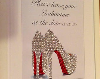Swarovski Christian Louboutin 'Please leave your Louboutins at the door'
