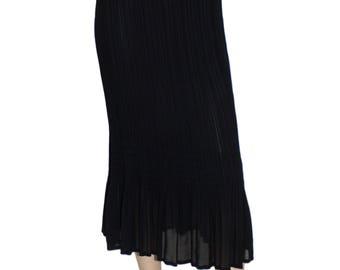 ISSEY MIYAKE Fete Vintage Black Accordion Pleats Skirt