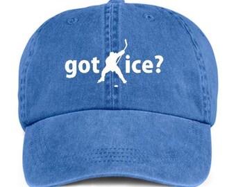 GOT ICE? HOCKEY Player Ice Playing Sport Baseball Style Cap Hat