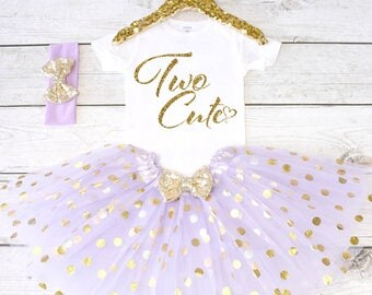 Two Cute. 2nd Birthday Outfit. Girls Birthday Outfit. Birthday Shirt. Birthday Tutu Outfit. Birthday Girl. 2nd birthday S2 2BD (LAV)