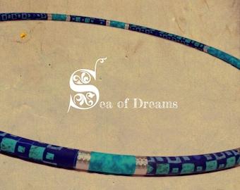 PE BEGINNERS fabric covered hula hoop, one of a kind unique hula hoop, a perfect beginner hula hoop: Sea of Dreams
