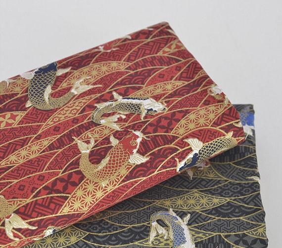 Koi/carp And Water Ripple Cotton Linen Fabric Home Decor