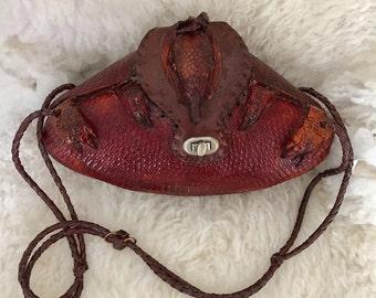 Vintage armadillo purse