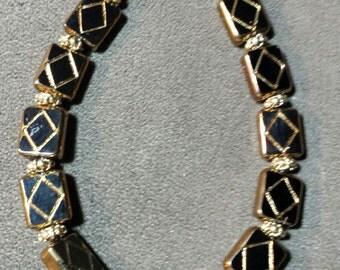 """Pretty Beaded """"Tile"""" Bracelet-1"""