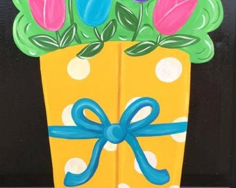 Rain Boots - Spring Door Hanger - Rain Boot Wreath - April Showers Bring May Flowers - Spring Wreath - Spring Decor - Spring - Front Door