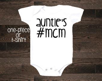 Auntie's #MCM Man Crush Monday one piece bodysuit body suit shirt tshirt newborn hospital baby boy