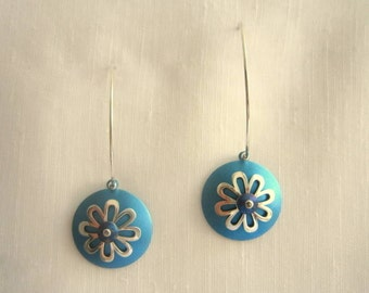 handmade sterling silver and titanium earrings