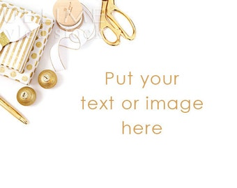 Styled Stock Photography / Christmas Styled / Christmas Stock / Christmas Background / MockUp / Christmas Photo / Gold / StockStyle-780