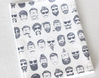 Modern Burp Cloth, Burp Cloth, Baby Boy Burp Cloth, Mustache Baby, Mustache Burp Cloth, Beards Baby, Beard Burp Cloth, Burp Towel,Stone Blue