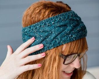 Turban Headband, Knitted Ear Warmer, Winter Headband, Knit Headband, Soft Knitted Headband, Ear Warmer Headband