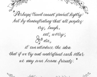 wedding vow calligraphycustom calligraphy poem love letter quote wedding vows