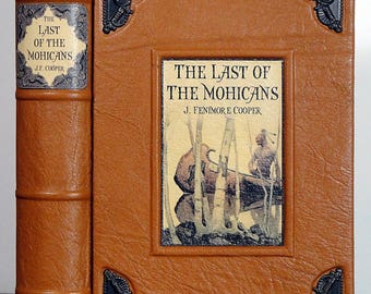 1895 ~ The LAST of THE MOHICANS ~ by J. Fenimore Cooper, Illustrated, Restored & Rebound in Leather