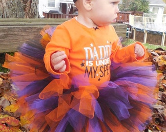 infant/toddler Halloween tutu, tie waist with bow