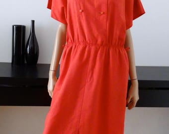 robe WEILL rose corail double boutonnage taille 46/48 - uk  18/20 - us 14/16