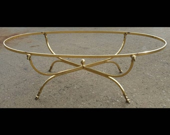 vintage brass coffee table | etsy