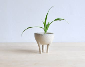 Leggy Planter - standing planter - planter with stand - tripod planter - minimalist planter - unique home decor - indoor plant stand