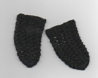 black knitted cotton doll socks