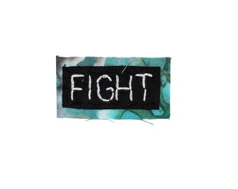FIGHT || MINI PATCH Political Patch Women's Rights Iron On Patches black lives matter patch human rights equal rights civil rights
