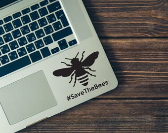 SUMMER SALE! Save The Bees Sticker Honey Bee Decal Hashtag Save The Bees Car Laptop Vinyl Decal Sticker Bee Decal