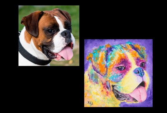 Custom Pet Painting - 12 x 12 inches or 11 x 14 inches