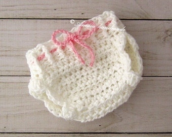 Newborn diaper cover, Baby girl crochet diaper cover, Avalible sizes: Newborn to 12 months, Great for everyday use or for a baby photo prop