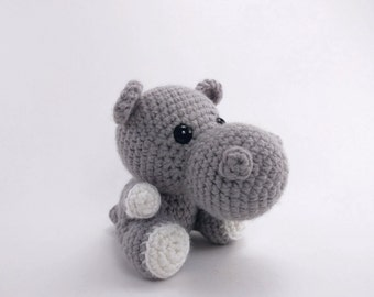 PATTERN: Crochet hippo pattern - amigurumi hippo pattern - crocheted hippopotamus pattern - hippo toy tutorial - PDF crochet pattern