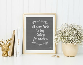 Rustic Kitchen Wall Decor, Inspirational Quote Print, Rustic Home Decor, Chalkboard Print, Decorative chalkboard, Home Wall Art, Eyore Quote