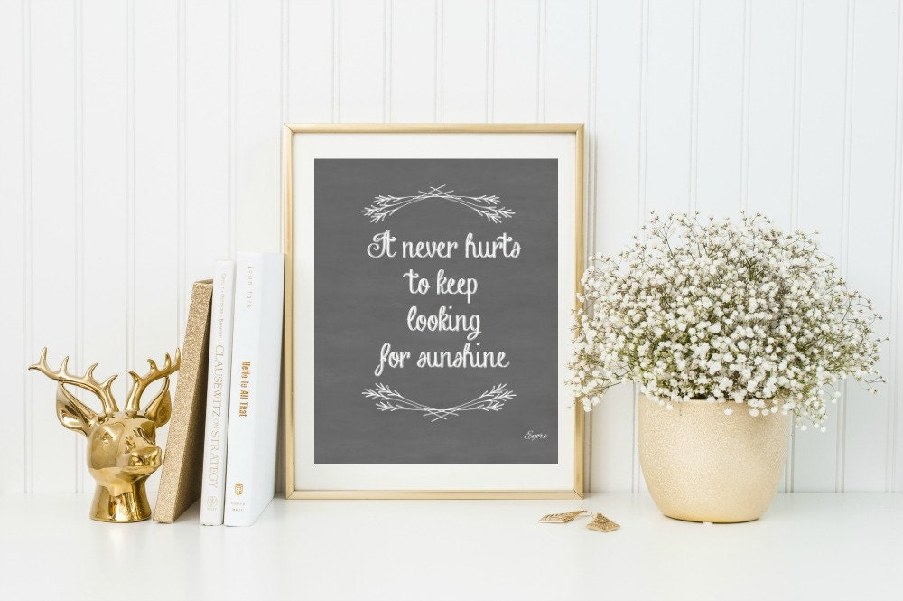 Wall Decor For Rustic Kitchen : Rustic kitchen wall decor inspirational quote print
