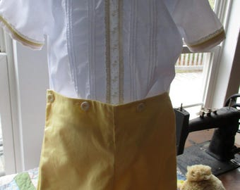 Boys Button-On in Yellow