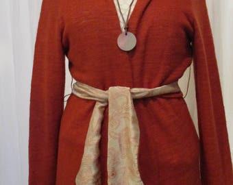 Linen sweater gr. 40 Copper & Silk skirt