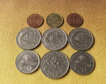 Singapore Coins, Coins for Jewelry Making