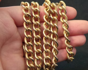 Vintage Signed Sarah Coventry Chunky Heavy Gold Chain Necklace