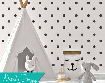 Vinyl Polka Dot Decals, Any Color, Polka Dot Decals, Fast Shipping