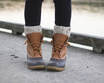 Ready to Ship! / Knit Boot Cuff Leg Warmers Boot Accessories | THE TIMBERS | Oatmeal