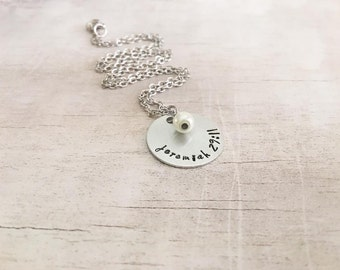 Bible Verse Necklace - Jeremiah 29:11 - Confirmation Gifts for Girls - Graduation Gift - Hand Stamped Necklace