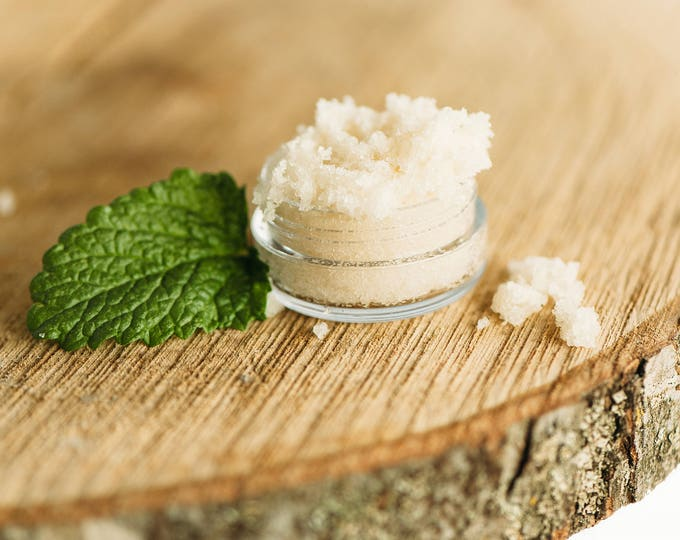Lip Scrub Peppermint with ORGANIC Ingredients 6ml, Edible, Refreshing
