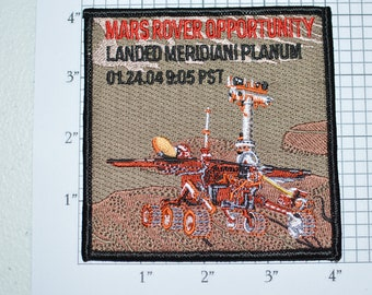 Mars Rover Opportunity Landed Meridiani Planum JPL Iron-on Patch Collectible Patch Uniform Patch Jacket Patch Shirt Patch e22h