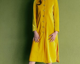 Siena Tailored Velvet Shirt Dress