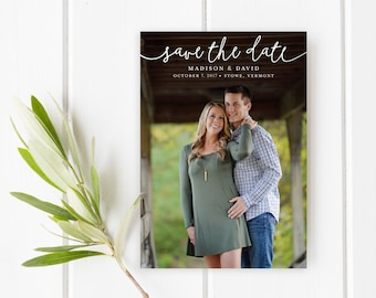 Printable Save the Date, Announcement, Save the Date Template, Photo Save the Date, Save the Date Magnet, Save the Date PDF, The Madison