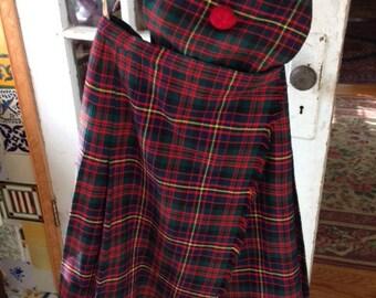Vintage Scottish Kilt and beret