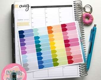 Appointment Stickers - Colourful Brights | Sheet of 40 | Erin Condren Vertical Hourly Life Planner Stickers
