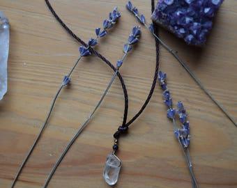 Raw Quartz Choker Necklace