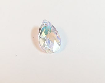 Swarovski Crystal Beads, Swarovski Pendant, Swarovski Drop Pendant, 9mmx16mm Clear AB Swarovski Crystal x1, Swarovski Crystal Charm Pendant