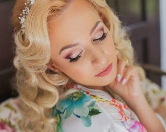 20% OFF-Wedding Tiara,Bridal Flower Tiara, Wedding Crown, Wedding Wreaths, Bridal Crown,Wedding Headband, Wedding Headpiece,Hair Accessories