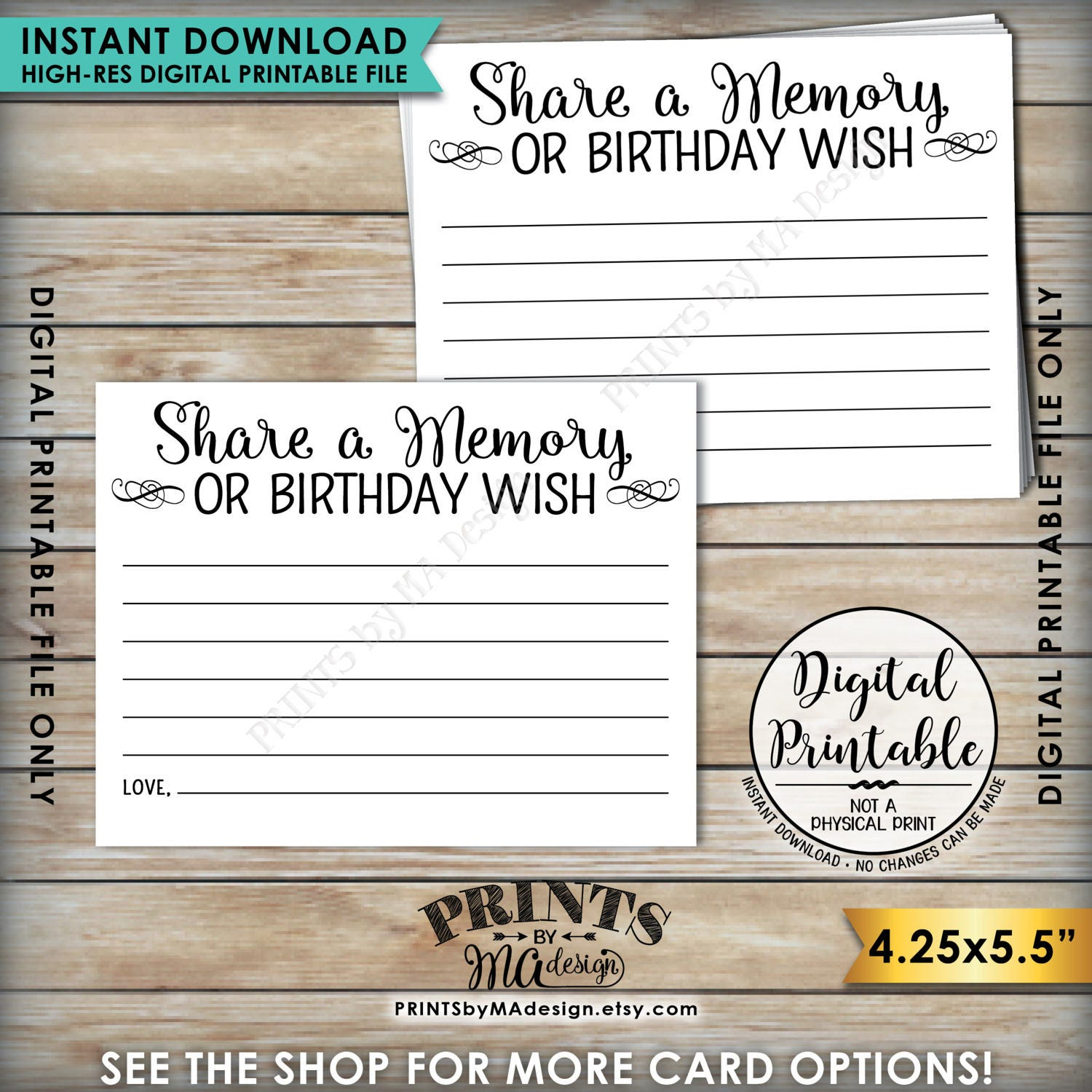 share a memory card share memories or a birthday wish write