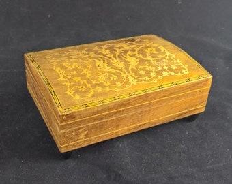 Jewelry box music box wooden box musical box jewelry storage storage box small wooden box box with music wound up vintage music box