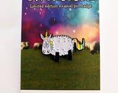 Unicorn pin badge, Ewenicorn, sheep badge, enamel pin, gift for her, lapel pin, hat pin, funny badge, cute badge, sheep pin, cute pin badge
